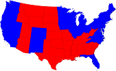 2008 U.S. Presidential Election Map