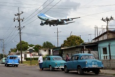 Air Force One Over Cuba, 03/20/2016