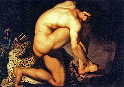 'The Wounded Philoctetes' by Nikolaj Abraham Abildgaard (1743-1809)