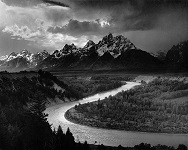 'The Tetons and the Snake River' by Ansel Adams (1902-84), 1942