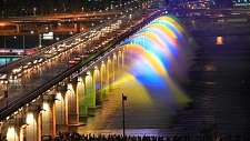 Banpo Bridge Moonlight Rainbow Fountain, 2009