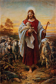 'The Good Shepherd' by Bernhard Plockhorst (1825-1907)