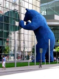 'Blue Bear Statue', by Lawrence Argent, 2005