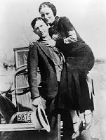 Bonnie Parker (1910-34) and Clyde Barrow (1909-34)