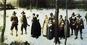 'Pilgrims Going to Church' by George Henry Boughton, 1867