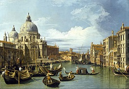 'The Entrance to the Grand Canal' by Canaletto (1697-1768), 1730