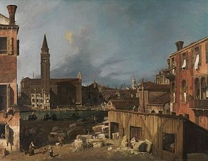 'The Stonemasons Yard', Canaletto (1697-1768), 1729