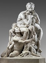 'Ugolino and His Sons' by Jean-Baptiste Carpeaux (1827-75), 1857-60