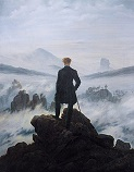 'Wanderer Above the Sea of Fog', by Caspar David Friedrich (1774-1840), 1818)