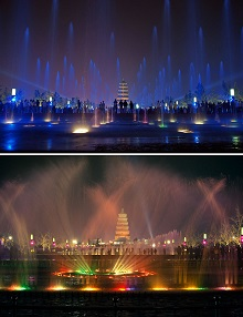 Ch'ang-an Giant Wild Goose Pagoda Musical Fountain