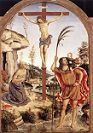 'The Crucifixion with St. Jerome and St. Christopher' by Pinturicchio (1454-1513), 1471