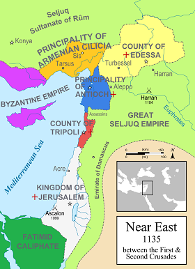 Crusader Map, 1135