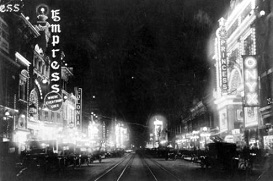 Curtis St. in Denver in the 1920s
