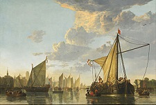 'The Maas at Dordrecht' by Aelbert Cuyp (1620-91), 1650