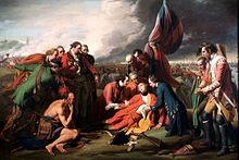 'The Death of General Wolfe, Sept. 13, 1759', by Benjamin West (1738-1820), 1770