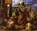 'Entry of the Crusaders into Constantinople, Apr. 12, 1204' by Eugene Delacroix, 1840