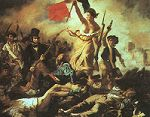'Liberty Leading the People' by Eugene Delacroix (1798-1863), 1830