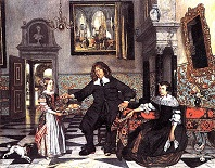 'Portrait of a Family in an Interior', by Emanuel de Witte (1617-92), 1678