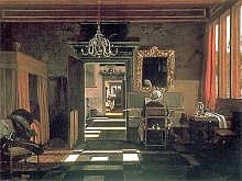 'Interior with a Woman Playing the Virginal' by Emanuel de Witte (1617-92), 1665