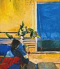 'Girl with Plant' by Richard Diebenkorn (1922-93), 1960