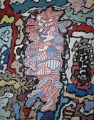 'Court les rues', by Jean Dubuffet (1901-85), 1962