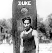 Duke Kahanamoku of the U.S. (1890-1968)