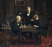 'The Chess Players' by Thomas Eakins (1844-1916), 1876