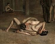 'Wrestlers' by Thomas Eakins (1844-1916), 1899