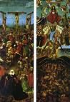 'The Crucifixion and the Last Judgment' by Jan van Eyck (1390-1441), 1430