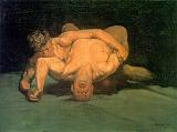 'The Wrestlers' by George Luks (1867-1933), 1905)