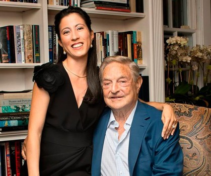 George Soros (1930-) and Tamiko Bolton (1971-)