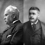 Sir William Schwenck Gilbert (1836-1911) and Arthur Seymour Sullivan (1842-1900)