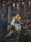 'Ivan Tsarevich Riding the Grey Wolf' by Viktor Vasnetsov (1848-1926), 1889