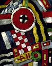 'Berlin Abstraction' by Marsden Hartley, 1914-5