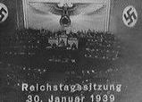 Hitler at the Reichstag, Jan. 30, 1939