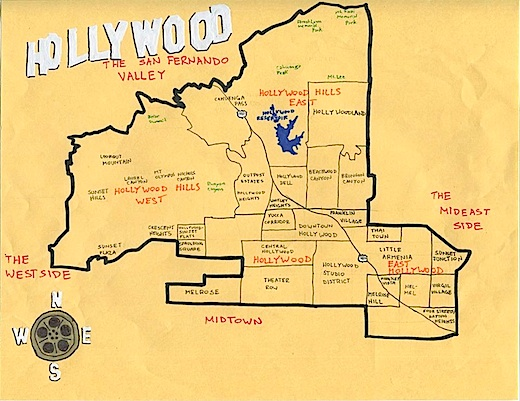 Hollywood Map