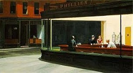 'Nighthawks' by Edward Hopper (1882-1967), 1942