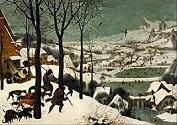'The Hunters in the Snow' by Pieter Brueghel the Elder (1525-69), 1565