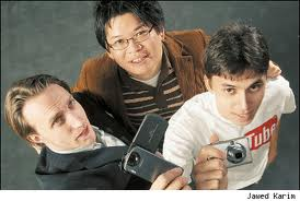 Chad Meredith Hurley (1977), Jawed Karim (1979-), and Steve Shih Chen (1978-)