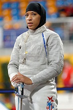 Ibtihaj Muhammad of the U.S. (1985-)