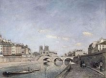 'The Seine and Notre-Dame in Paris' by Johan Barthold Jongkind (1819-91), 1864