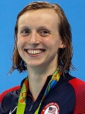Katie Ledecky of the U.S. (1997-)