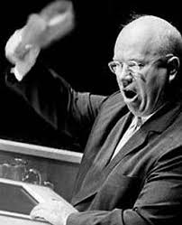 Khrushchev (Shoechev) (K-Shoe) at the U.N., Oct. 12, 1960)