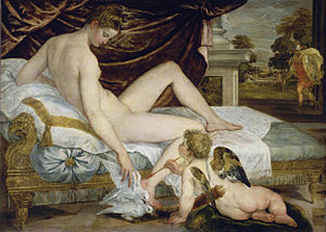 'Venus and Love' by Lambert Sustris (1515-84), 1554