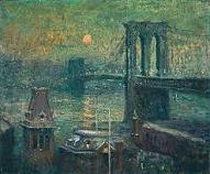'Brooklyn Bridge' by Ernest Lawson (1873-1939), 1917