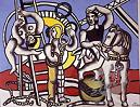 'Acrobat and Horse on Blue Background' by Fernand Leger (1881-1955), 1953