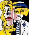 'Stepping Out', by Roy Lichtenstein (1923-97), 1978