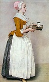 'The Chocolate Girl' by Jean-Etienne Liotard (1702-89), 1744