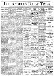 The Los Angeles Times, 1881