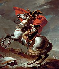 'Napoleon I (1769-1821) on Marengo (1793-1831)', by Jacques-Louis David (1748-1825), 1801